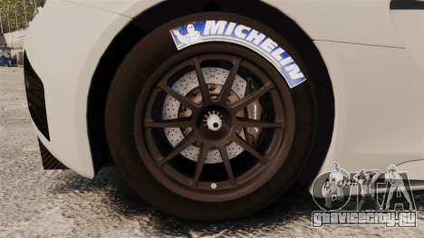 McLaren MP4-12C GT3 Blank для GTA 4 вид сзади
