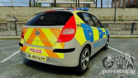 Hyundai i30 Metropolitan Police [ELS] для GTA 4 вид сзади слева