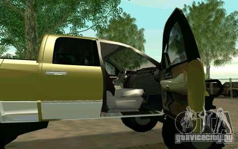 Dodge Ram 4x4 для GTA San Andreas вид сзади слева