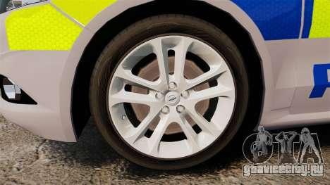 Ford Mondeo 2014 Metropolitan Police [ELS] для GTA 4 вид сзади