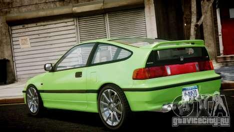 Honda CR-X для GTA 4 вид слева