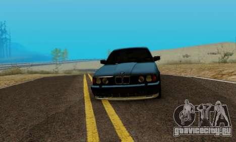 BMW M5 E34 1992 для GTA San Andreas вид сзади слева