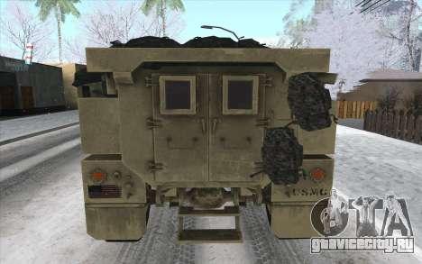 MRAP из BF4 для GTA San Andreas вид сзади слева