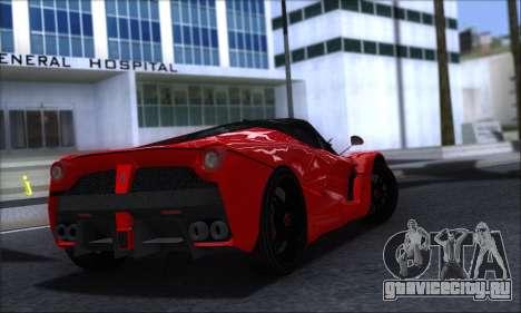 Ferrari LaFerrari v1.0 для GTA San Andreas вид сзади слева