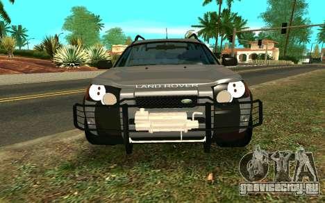 Land Rover Freelander для GTA San Andreas вид изнутри
