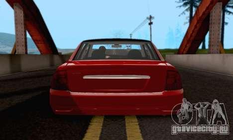 LADA 2170 для GTA San Andreas вид справа