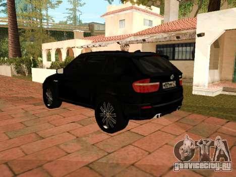 BMW X5 E70 2009 для GTA San Andreas вид сзади слева
