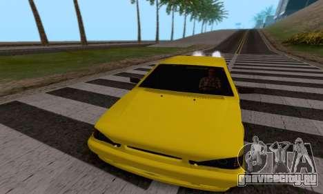 ВАЗ 2115 Diod для GTA San Andreas вид изнутри