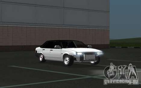 ВАЗ 21099 для GTA San Andreas вид снизу