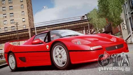Ferrari F50 1995 для GTA 4 вид справа