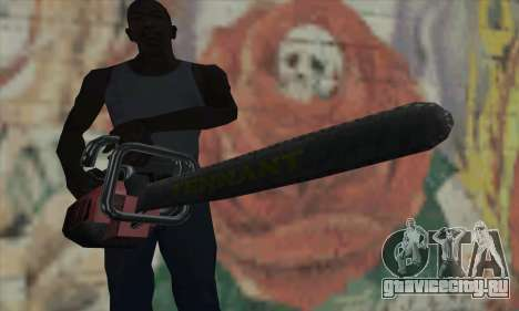 Manhunt Kettensäge для GTA San Andreas третий скриншот