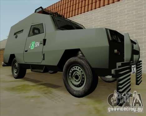 Zorrillo FF.EE для GTA San Andreas вид сзади слева
