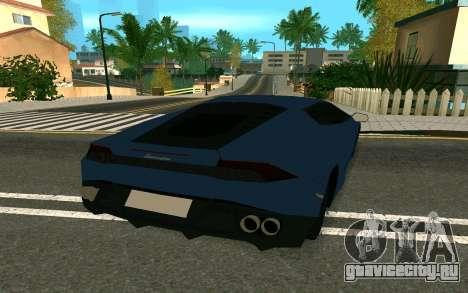 Lamborghini Huracane LP610-4 для GTA San Andreas вид справа