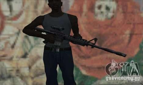 M4 RIS Acog Sight для GTA San Andreas третий скриншот