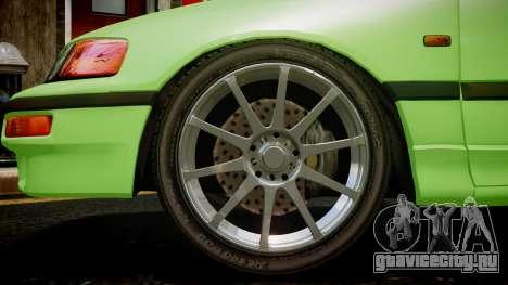 Honda CR-X для GTA 4 вид сзади слева