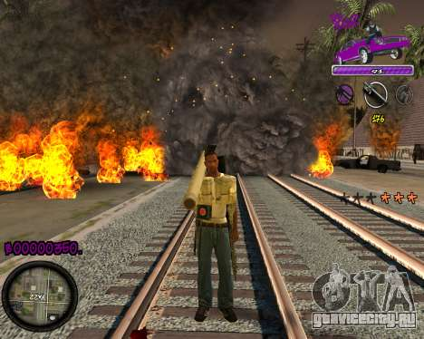 C-HUD Ballas Gang для GTA San Andreas