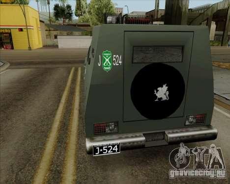 Zorrillo FF.EE для GTA San Andreas вид слева