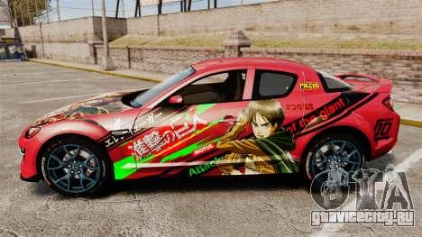 Mazda RX-8 R3 2011 для GTA 4 вид слева