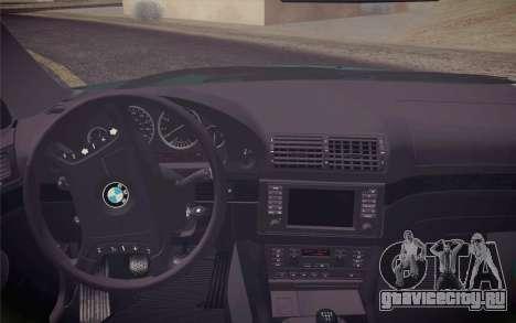 BMW M5 E39 528i Greenoxford для GTA San Andreas вид справа