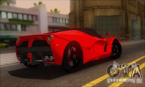 Ferrari LaFerrari v1.0 для GTA San Andreas вид сзади