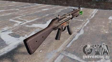 Пистолет-пулемёт HK MP5 с фонариком для GTA 4 второй скриншот