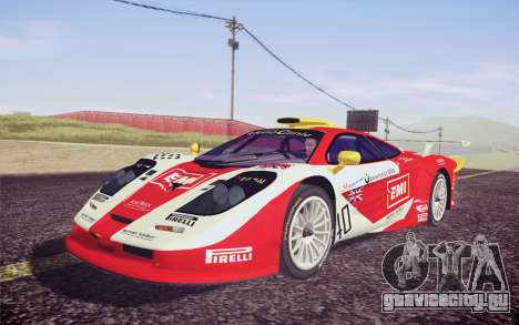 McLaren F1 GTR Longtail 22R для GTA San Andreas вид изнутри