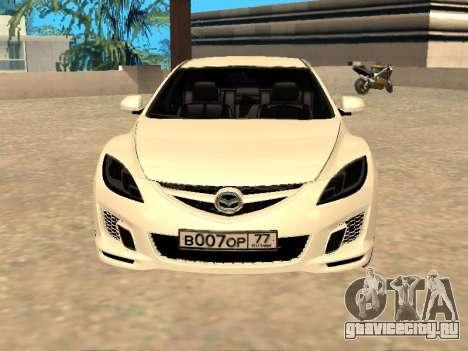 Mazda 6 2010 для GTA San Andreas вид сзади слева