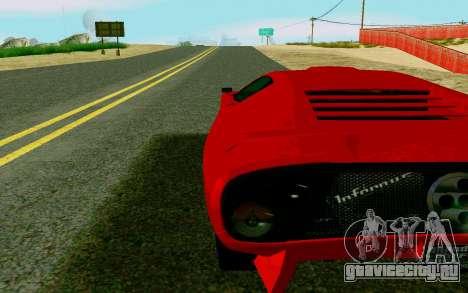 GTA V Pegassi Infernus для GTA San Andreas вид сзади слева