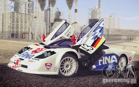 McLaren F1 GTR Longtail 22R для GTA San Andreas колёса