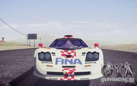 McLaren F1 GTR Longtail 22R для GTA San Andreas салон