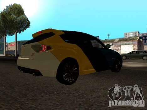 Subaru Impreza STi для GTA San Andreas вид справа
