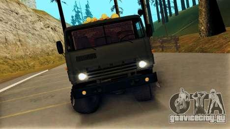 КамАЗ 4310 Бревновоз для GTA San Andreas вид справа