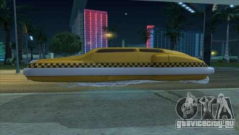 Taxi 5 Element для GTA San Andreas вид справа