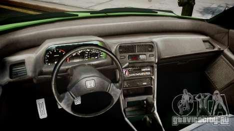 Honda CR-X для GTA 4 вид справа