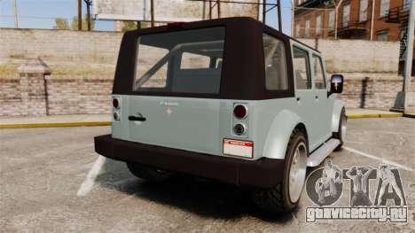 GTA V Canis Mesa для GTA 4 вид сзади слева