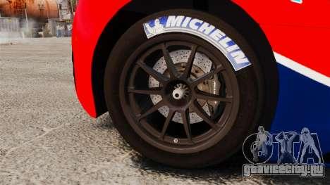 McLaren MP4-12C GT3 для GTA 4 вид сзади