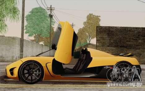 Koenigsegg Agera R для GTA San Andreas колёса