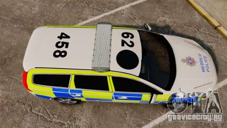 Volvo V70 South Wales Police [ELS] для GTA 4 вид справа