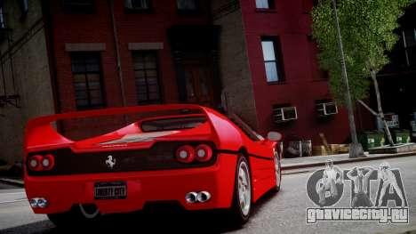 Ferrari F50 1995 для GTA 4 вид сзади