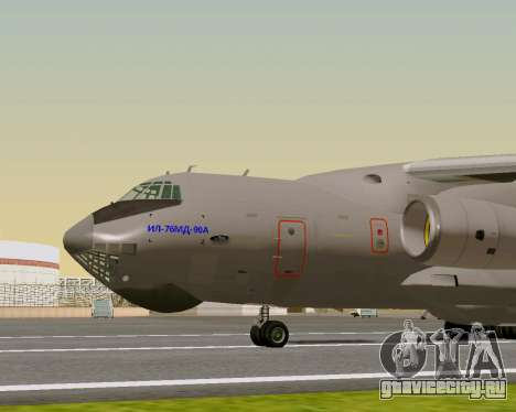 Ил-76МД-90А (Ил-476) для GTA San Andreas вид сзади слева