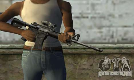 M4A1 Carbine Assault Rifle для GTA San Andreas третий скриншот