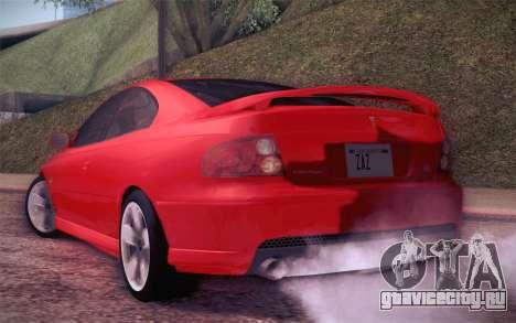 Pontiac GTO 2005 для GTA San Andreas вид справа