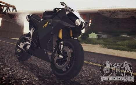 Yamaha YZF R1 2012 Black для GTA San Andreas вид сзади