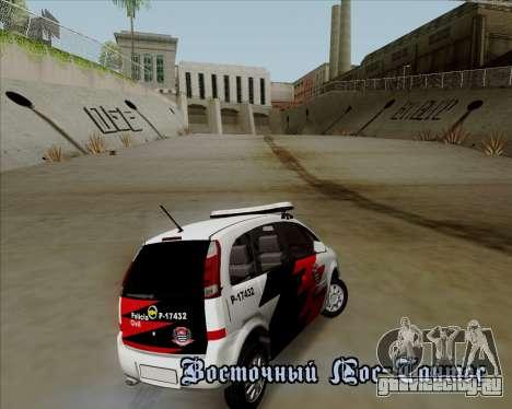 Chevrolet Meriva для GTA San Andreas вид изнутри