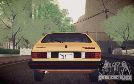 Volkswagen Scirocco S (Typ 53) 1981 IVF для GTA San Andreas салон