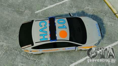Ford Focus Metropolitan Police [ELS] для GTA 4 вид справа