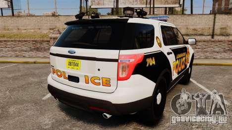 Ford Explorer 2013 LCPD [ELS] v1.5X для GTA 4 вид сзади слева