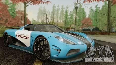Koenigsegg Agera R для GTA San Andreas вид слева