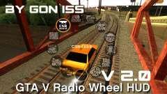 GTA 5 Radio HUD для GTA San Andreas