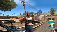 C-HUD Rifa by HARDy для GTA San Andreas